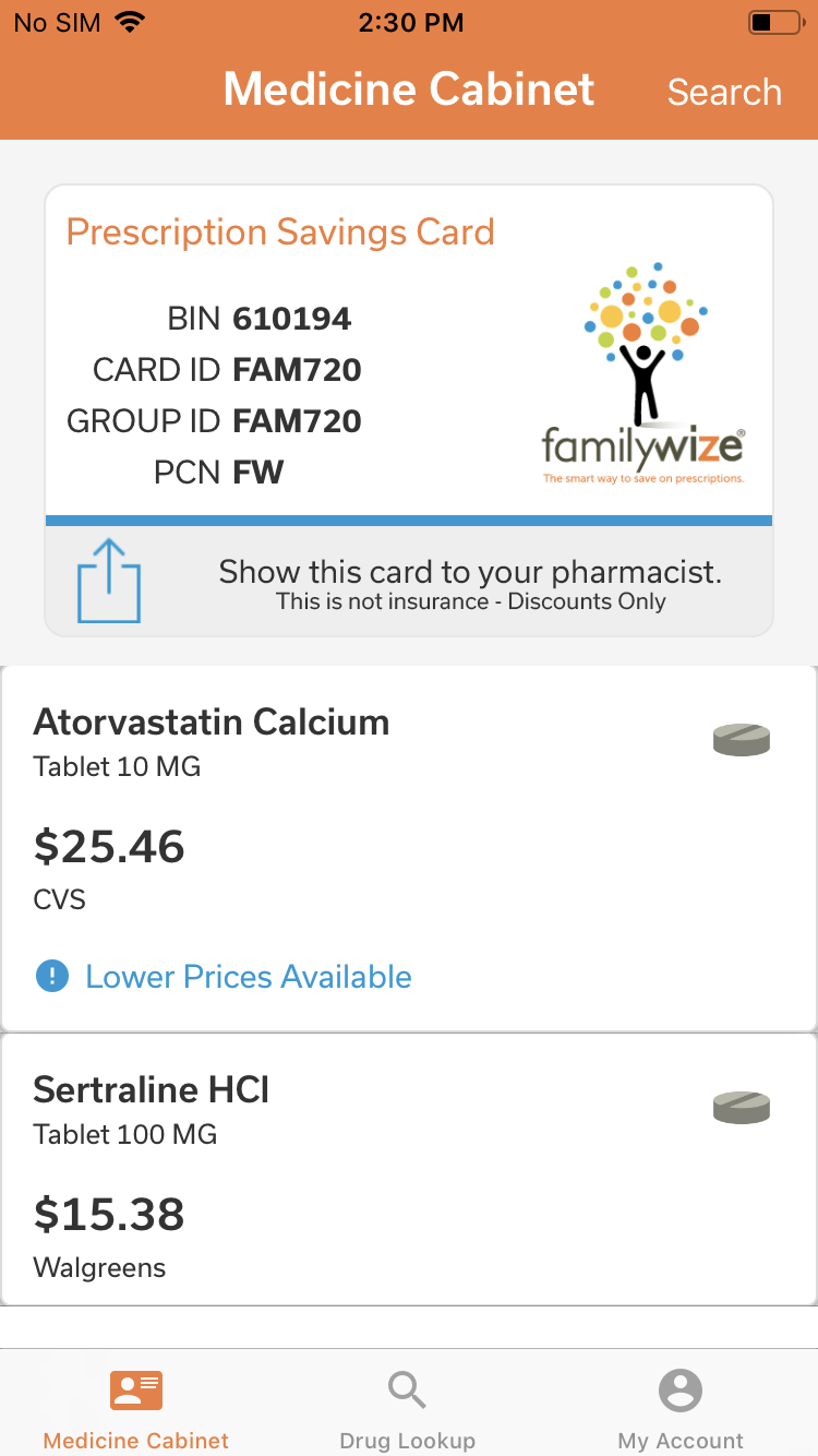 Medicine Cabinet – iOS